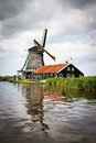 Mill at Zaanse Schans Royalty Free Stock Photo