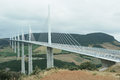 Millau viaduct de crossing the tarn valley in the larzac region of france one of the world s highest bridges and the longest cable Royalty Free Stock Photography