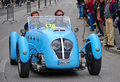 The mille miglia in brescia may healey silverstone on race drivers heumann christian dreve volker Stock Photo