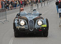 The mille miglia in brescia may jaguar xk lightweight on race drivers turner charlie irons jeremy Stock Images