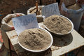 Milled wheat and barley on the market in kyrgystan Stock Photography