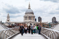 Millenium Bridge Saint Paul London Stock Photo