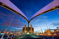 Millennium bridge manchester from inside Royalty Free Stock Photo