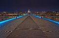 Millennium bridge at night london united kingdom Royalty Free Stock Photography