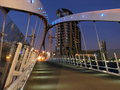 Millennium Bridge Salford Quays Stock Photography