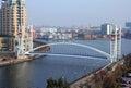 Millennium Bridge at Salford Quays Royalty Free Stock Photo