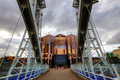 Millennium Bridge at Salford Quays in Manchester. Royalty Free Stock Photo