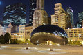 Millennium park chicago cloud gate also known as the bean is one of the parks major attractions Stock Photography