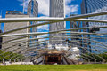 Millennium park chicago july jay pritzker pavilion in on july in chicago outdoor amphitheater in downtown chicago Royalty Free Stock Photos