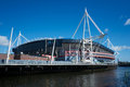 Millennium stadium the millenium in cardiff wales uk Royalty Free Stock Photos