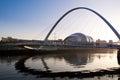 The Millenuim Bridge, Newcastle Upon Tyne, England. Royalty Free Stock Photo