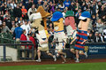 Miller Park Racing Sausages, Milwaukee Brewers Royalty Free Stock Photo