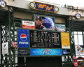 Miller park scoreboard Royalty Free Stock Photo