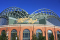 Miller park stadium entrance home of the brewers in milwaukee wisconsin Stock Photography