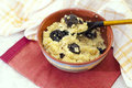 Millet porridge with prunes Royalty Free Stock Image