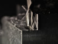 Milling a steel block
