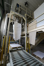 Milling wheat photo of a big industrial feed mill where grain is processed Stock Images