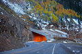 Million dollar highway in early winter time Stock Photo