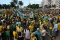 Millions of brazilians call for the impeachment of dilma rousseff rio de janeiro brazil march took to streets to protest against Stock Images