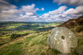 Millstone at Curbar Edge Royalty Free Stock Photo