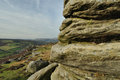 Millstone grit strata on Froggatt Edge Royalty Free Stock Photo