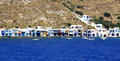 Milos fishermen village Royalty Free Stock Photo