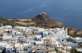 Milos island in greece of view from the castle Royalty Free Stock Images