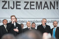 Milos Zeman, Martin Konvicka, Marek Cernoch Royalty Free Stock Photo