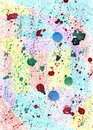 Milticolor  colorful watercolour background  with blots. Cute te