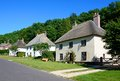 Milton Abbas thatched cottages. Royalty Free Stock Photo