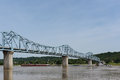 Milton-Madison Bridge on the Ohio River between Kentucky and Ind Royalty Free Stock Photo