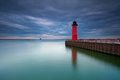 Milwaukee Lighthouse. Stock Photos