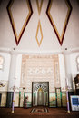 Mimbar the of mosque place for the imam to lead the prayers Royalty Free Stock Images