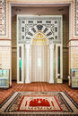 Mimbar the of mosque place for the imam to lead the prayers Royalty Free Stock Image
