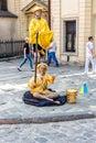 Mime artist  in Lvov, Ukraine Royalty Free Stock Photo
