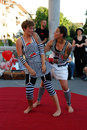 Mime belle etage sabine maringer and isabel blumensche from austria with a show dream at traditional street theater festival ana Royalty Free Stock Photo