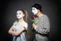 Mime in love Royalty Free Stock Photo