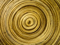This is a mimic pattern of tree annual ring on wood bucket Stock Images
