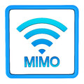 Mimo sign d or multiple input and multiple output Royalty Free Stock Photography