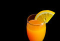 Mimosa cocktail with a slice of orange Royalty Free Stock Photo