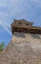 Minami-Sumi (South Corner) Turret of Matsuyama castle, Japan Royalty Free Stock Photo