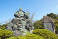 Minamoto no yoritomo the statue of located along the daibutsu hiking trail in kamakura japan is the samurai Stock Photography