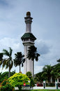 Minaret of al azim mosque in malacca malaysia – november it was s state it is located next to the general Royalty Free Stock Photo