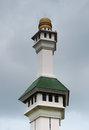 Minaret of al azim mosque in malacca malaysia – november it was s state it is located next to the general Stock Image