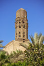 Minaret of ancient mosque Stock Photos