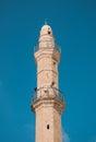 Minaret of the ancient mosque in jaffa in tel aviv Stock Image
