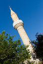 Minaret of Bodrum Castle Mosque from Mugla Stock Image