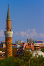 Minaret in bulgaria the of a mosque plovdiv Stock Image