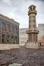 Minaret inside Katara cultural village in Doha, Qatar. Royalty Free Stock Photo
