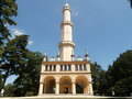 Minaret in lednice czech republic Stock Image